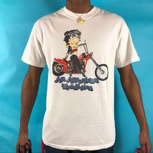 Vintage 90's Betty Boop motorcycle Tee size medium